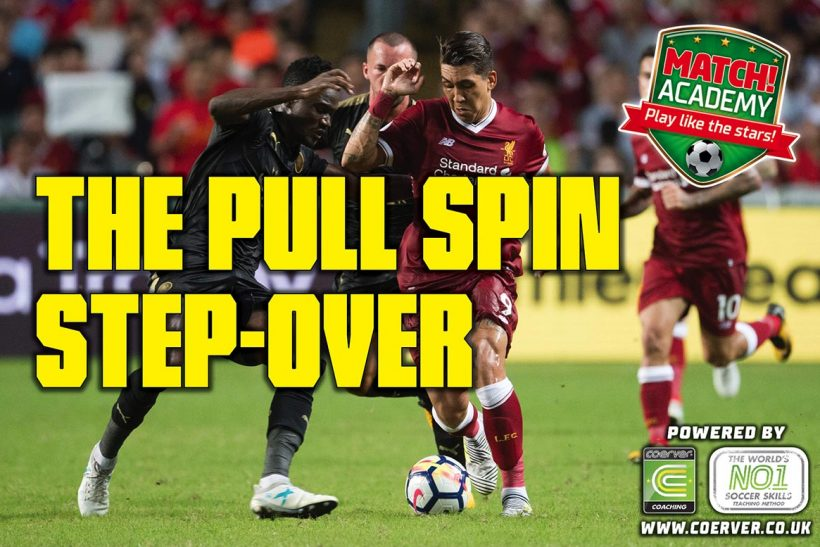THE PULL SPIN STEP-OVER!