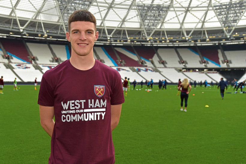 DECLAN RICE…LIVING THE DREAM!