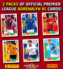 PANINI CARDS IN MATCH!